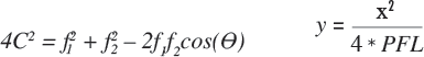 (Left) Ellipsoid Equation, (Right) Off-Axis Parabolic Equation