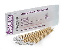 "3"" Length Case (10 Boxes), Cotton-Tipped Swabs"